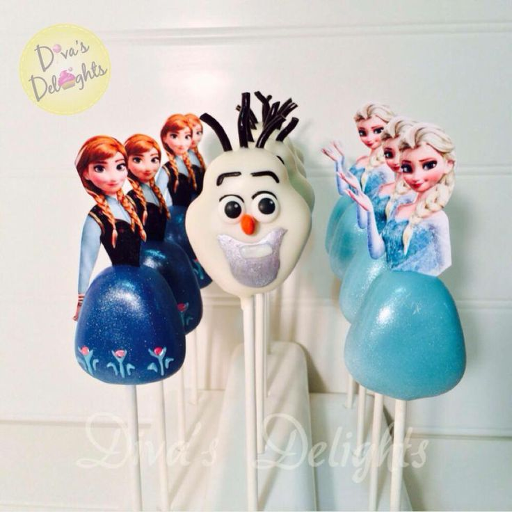 Images Of Frozen Cake Pops : More Frozen Movie Cake Pops #cakepops Northeast Cake ...
