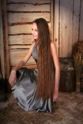 Beautiful very long brown hair