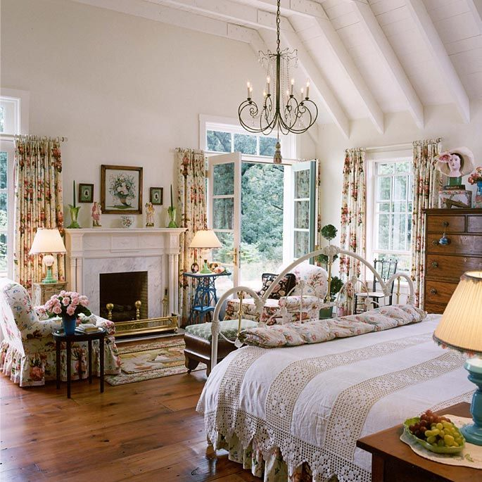 Beautiful country bedroom home sweet home pinterest for Gorgeous master bedrooms