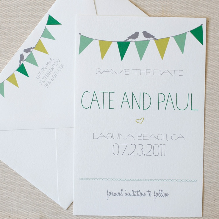bunting free printable save the date cards
