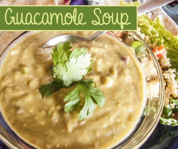 Guacamole Soup | Deja Vue Designs. Not too sure about this one but I ...