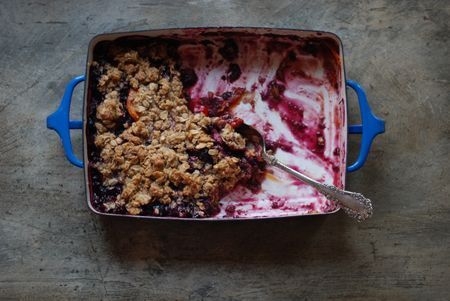 Apricot Blueberry Cardamom Crisp (gluten free) Adjust the fruit ratios ...