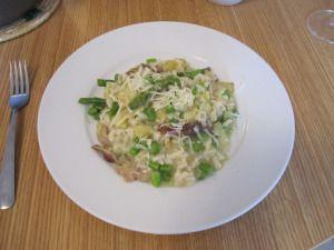 Asparagus, Artichoke and Shiitake Mushroom Risotto