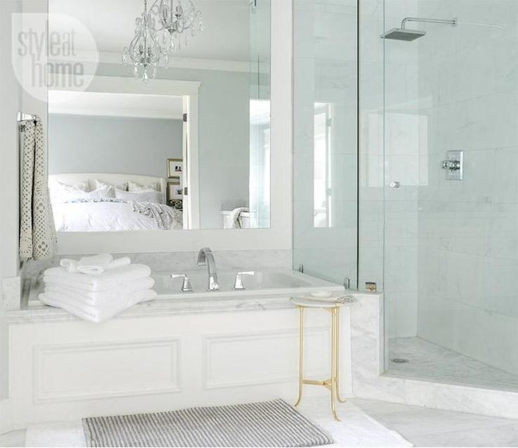Style at home master bathrooms pinterest for Master bathroom tub