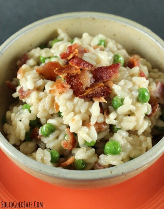 Pea and Bacon Risotto | Solid Gold Eats | Pinterest
