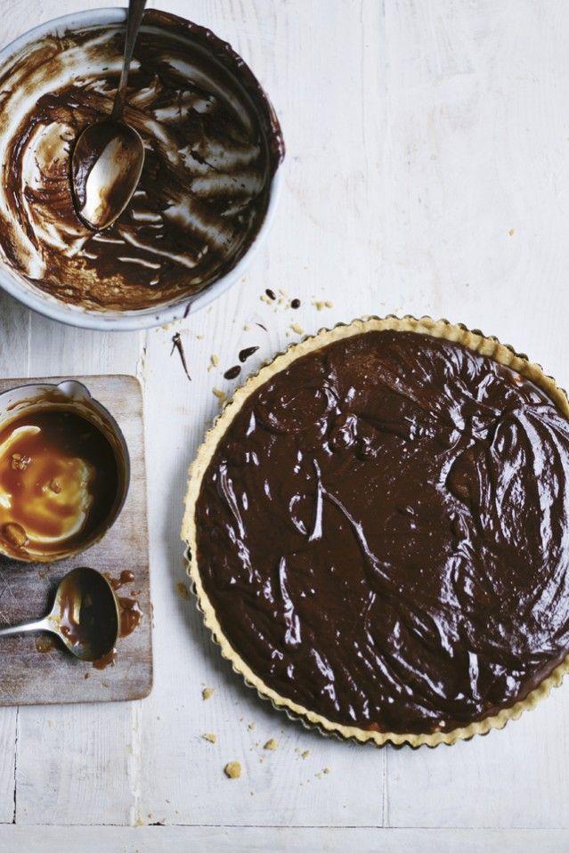 Dark Chocolate, Chilli Caramel & Macadamia Nut Tart from Chilli Notes ...
