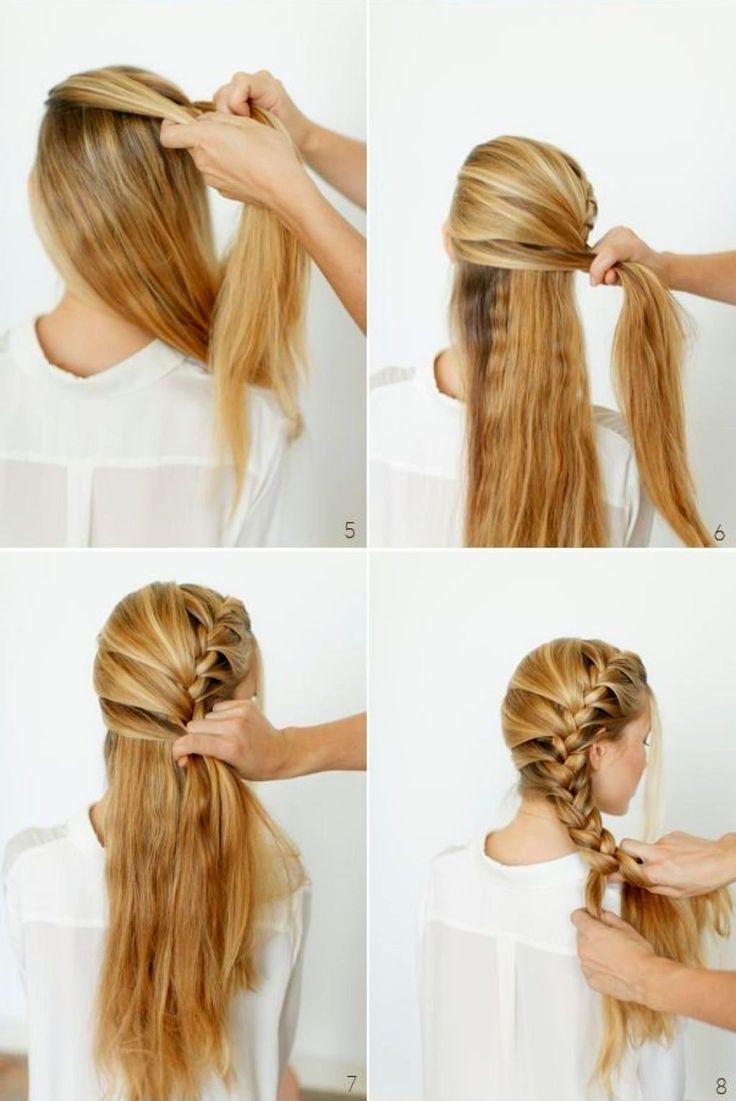 Красивая прическа на длинные волосы своими руками за 5 98