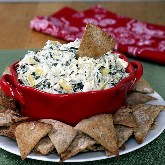 Healthy Spin Artichoke dip!! Under 80 Calories for a 1/4 cup!