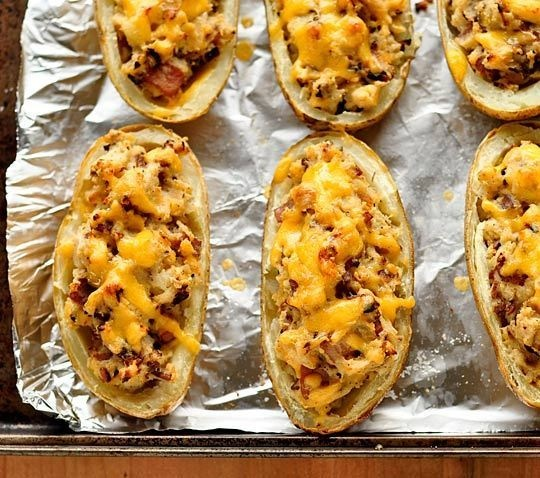 Bacon-Cheddar Twice Baked Potatoes | Recipe