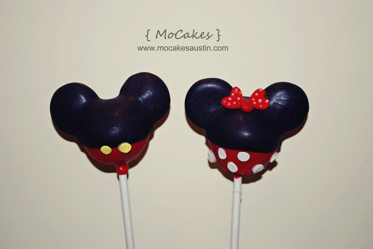 Mickey and Minnie Cake Pops by MoCakesMickey And Minnie Cake Pops Instructions