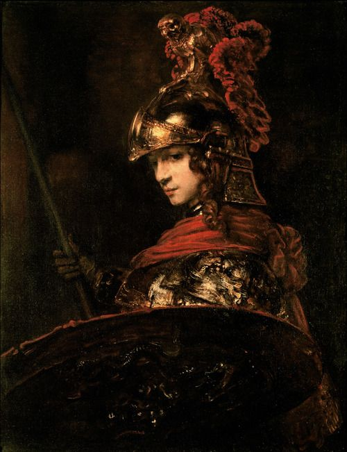 Pallas Athena - Rembrandt, 1664-1665