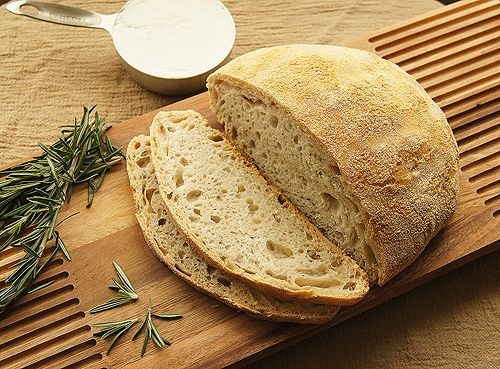Rosemary No-Knead Bread | Side Dishes | Pinterest
