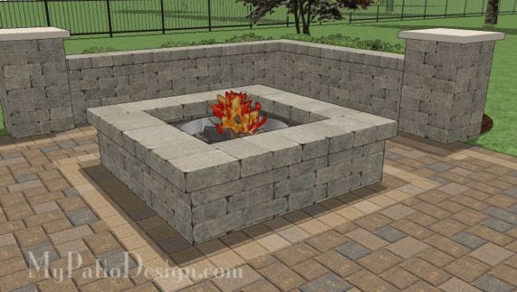 Pictures Of Square Fire Pits In A Backyard : 56 Square Fire Pit Design  Fire Pit Designs  Pinterest