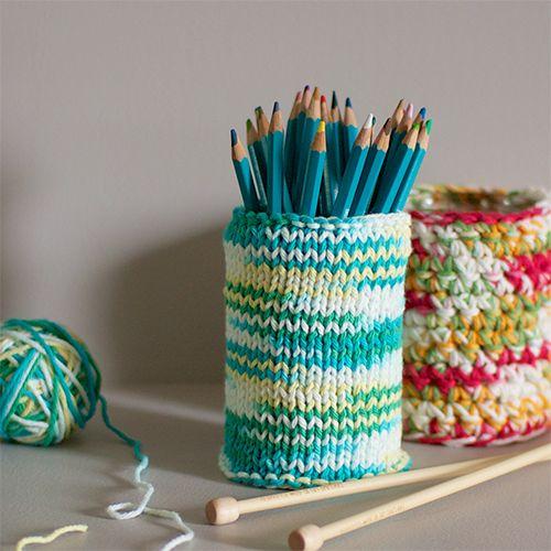 mr handsomeface blog knit amp crochet pencil holders