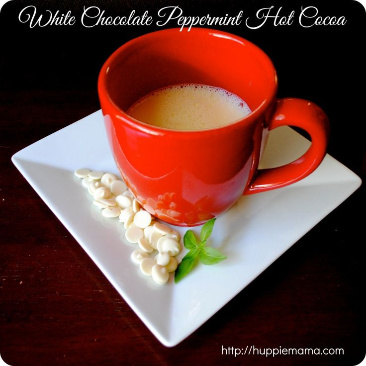 White Chocolate Peppermint Hot Cocoa | Chocolate | Pinterest