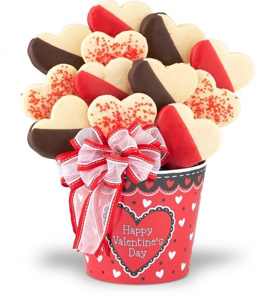 Valentine 39 s day cookie bouquet san valent n pinterest for Arrangements for valentines day