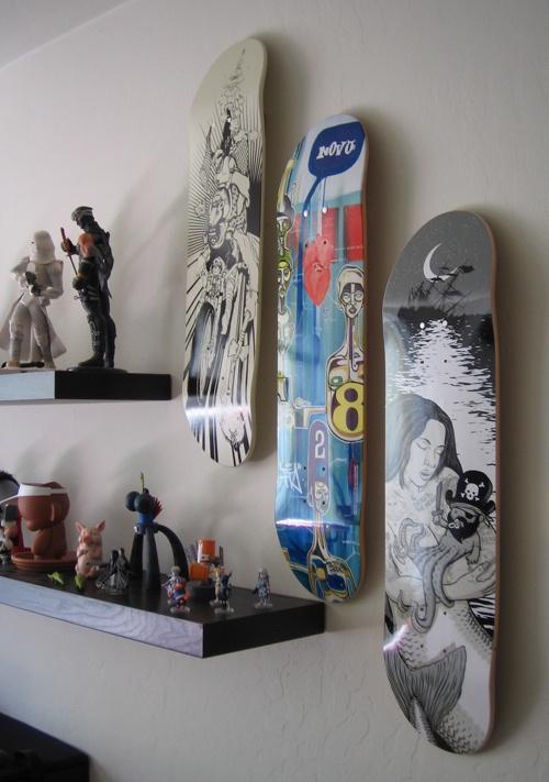 Wall Mounted Skateboard For Him P Home Decor Ideas Pinterest