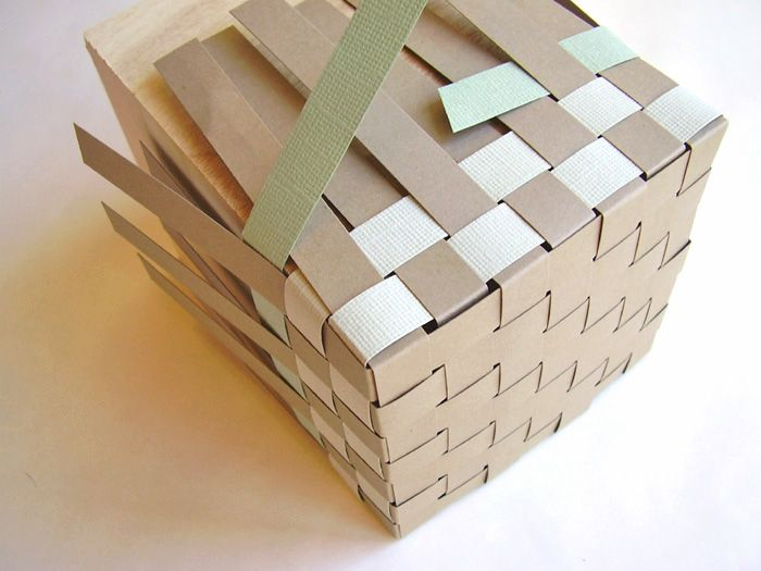 Basket Weaving Essay : Woven paper basket tutorial step boxes