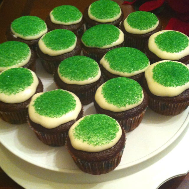 Chocolate cupcakes with peppermint icing | 12 days of Pintrest | Pint ...