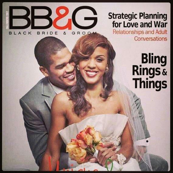 magazines black bride groom