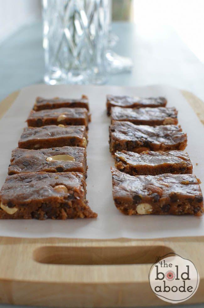 Homemade Nutty Chocolate Snack Bars | Recipe