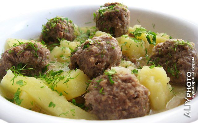 Тефтели с картошкой в мультиварке рецепты