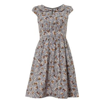 Emily And Fin Grey Floral Collar Dress £24.99