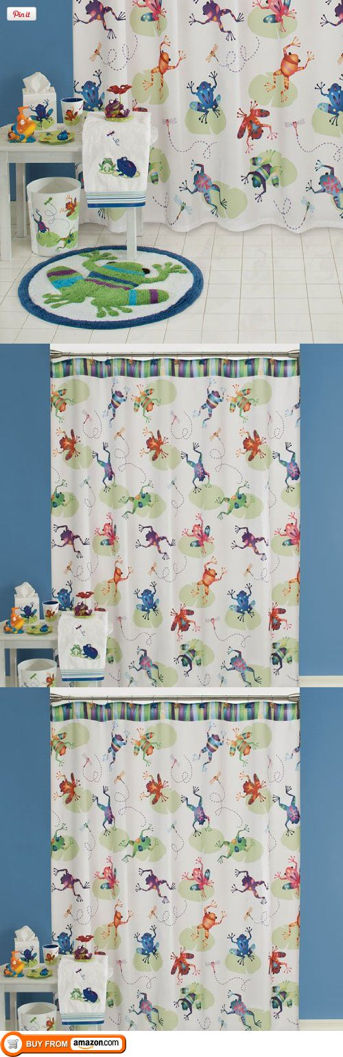 Al frog pad bath collection shower curtain jumping frogs are