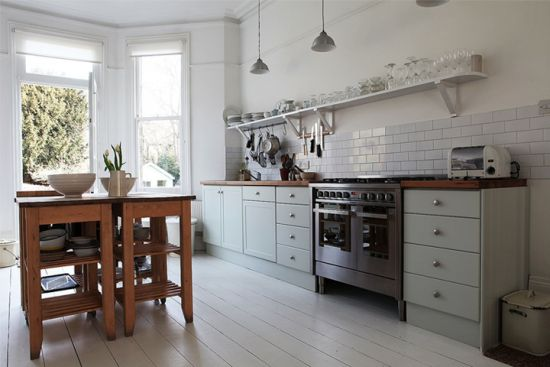 Interior of london victorian terrace new house kitchen for New kitchen london