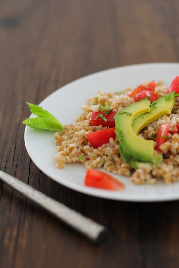 Heirloom Tomato and Avocado Farro Salad with Mint-Lime Dressing | http ...
