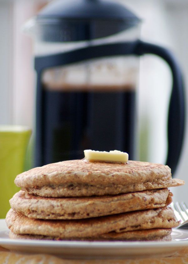 oatmeal pancakes much healthier...have tried a recipe with rye flour ...