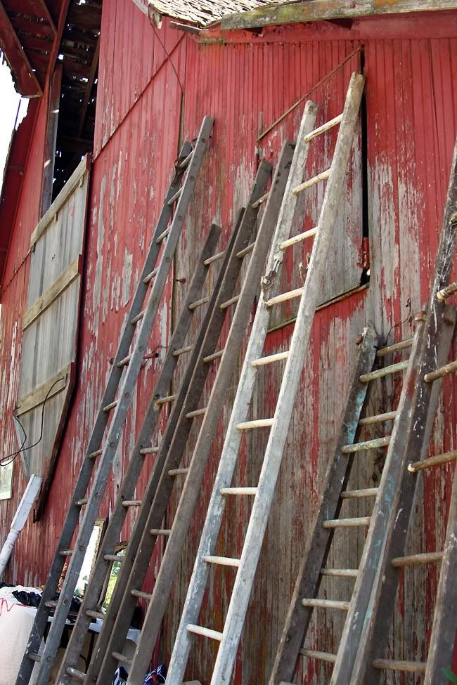 Love this old wooden ladders barn wood decor pinterest