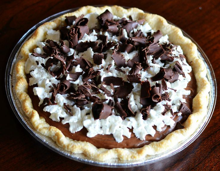 Peacoats and Plaid: Homemade french silk pie.