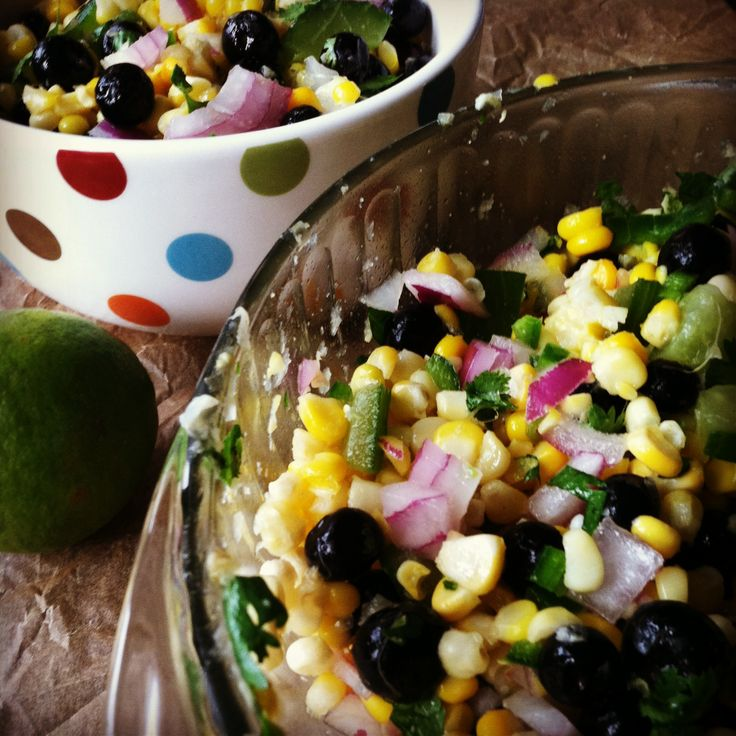 Blueberry and Corn Salad - life • love • lemons