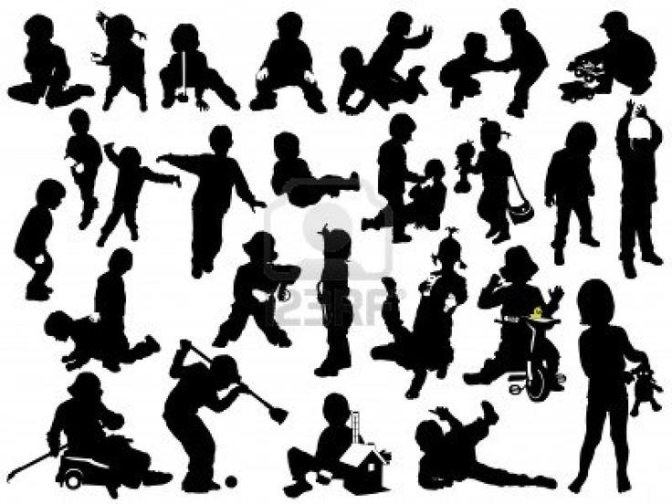 children playing silhouette - photo #8