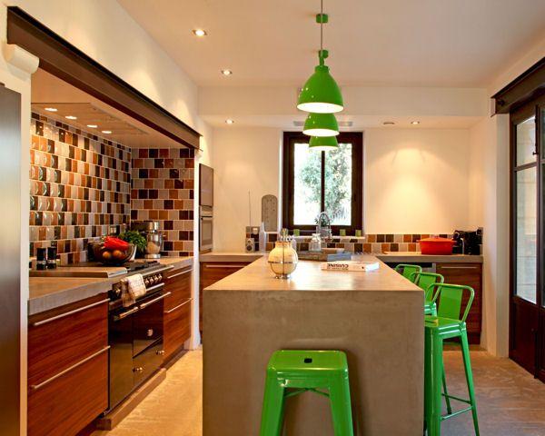 Cuisine ouverte avec lot central kitchen pinterest - Cuisine ouverte avec ilot central ...