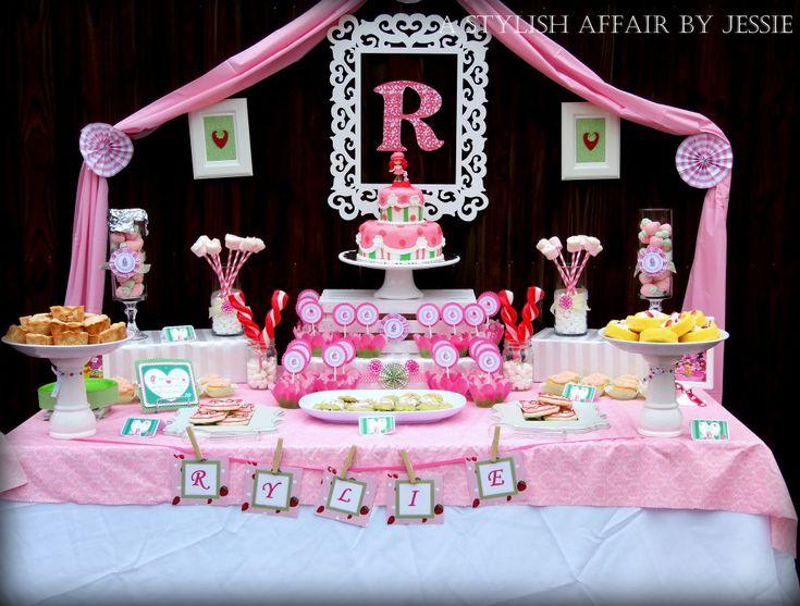 Strawberry Shortcake Sweets Table - #birthdayparty #kidsparty