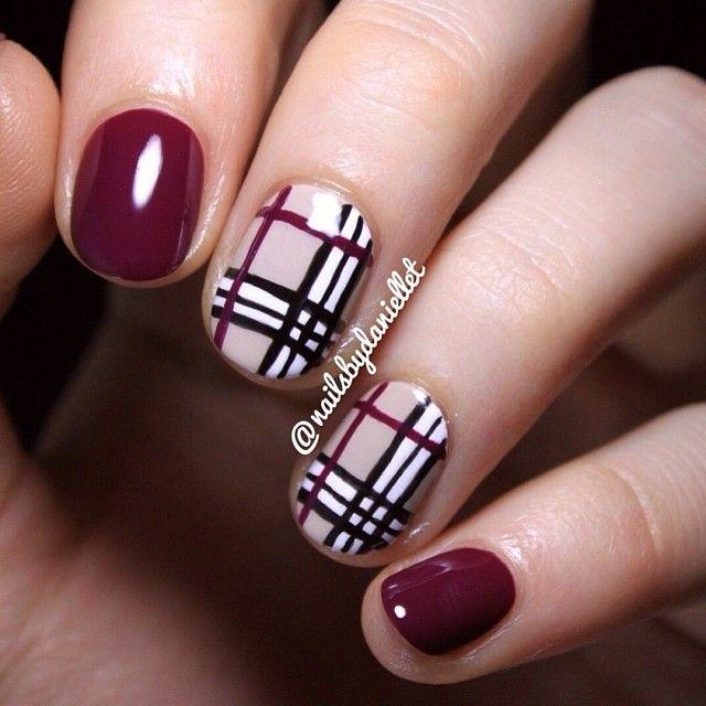 Ногти дизайн барбери