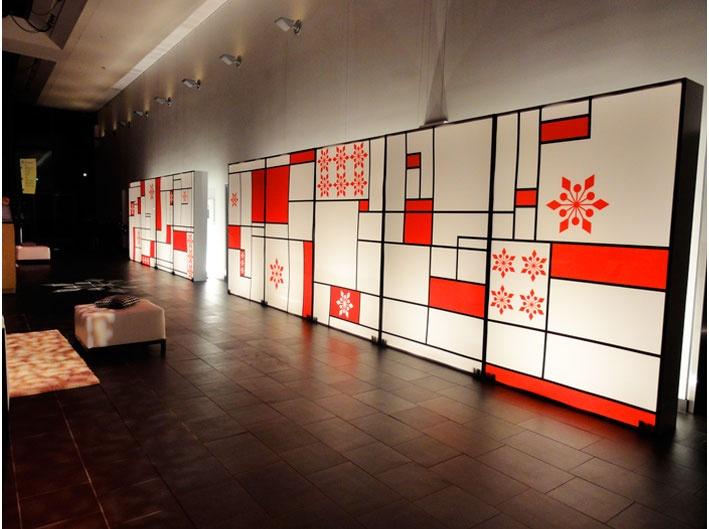 Abstract backlit acrylic display