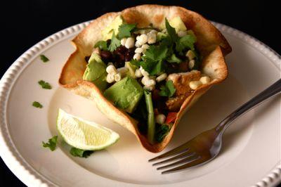 Crispy Taco Salad Bowls   ALL MINE JUST FINE THANKS   Pinterest