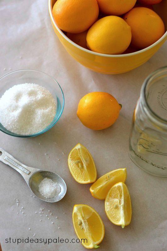 Preserved Meyer Lemons | stupideasypaleo.com