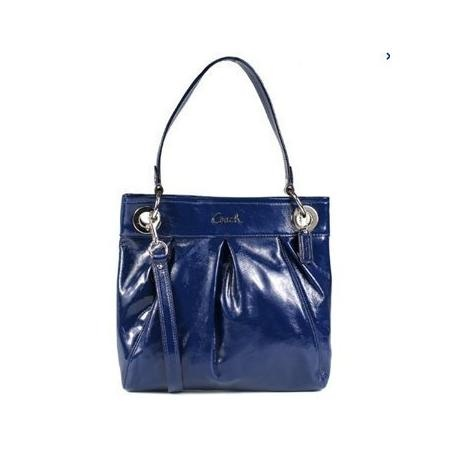 Coach Patent Leather Hippie Convertible Handbag 17953 Cobalt Blue