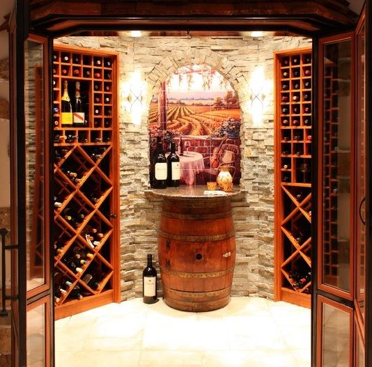 Small wine cellar wine and wine cellars for Small basement wine cellar