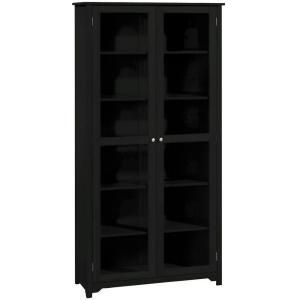 home decorators collection oxford 36 in w black 6 shelf bookcase with