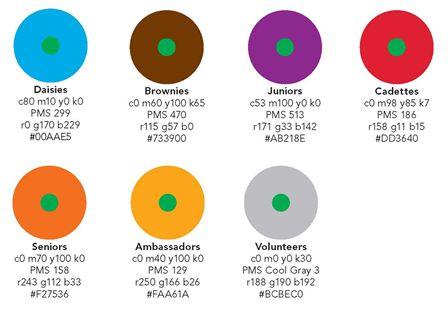 Official colors | Scout Ideas | Pinterest