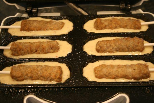 ... stick device pancake sausage muffins on a pancake sausage muffins on a