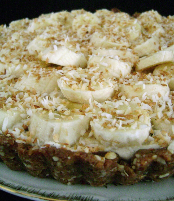 Jo and Sue: Banana and Coconut Cashew Cream Tart - My. Goodness. This ...