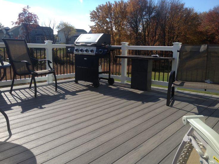 315 39 silver maple timbertech terrain w white vinyl railings for Terrain decking