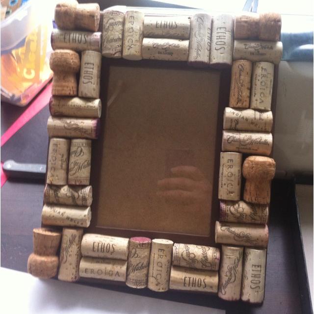 Wine cork Frame  I Like Wine  Pinterest