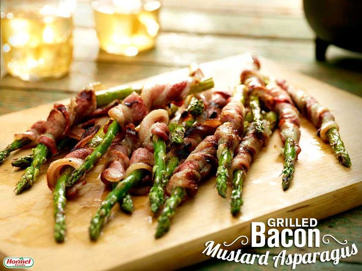 Grilled Bacon Mustard Asparagus #recipe #hormelfoods #grilling